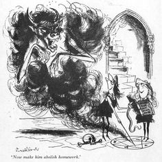 These days most people associate naughty uniformed schoolgirls with Japanese anime, but let's go back to the early where Cambridge bo. St Trinians, Ronald Searle, English Artists, Manga Artist, Caricature, Illustrators, Concept Art, Saints, Illustration Art
