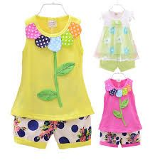 Baby Girls Clothing Sets Summer New 2015 Kids Clothes Set Sleeveless T shirt shorts For Girls Outfits Flower Print Dot Minnie Outfits Niños, Cute Girl Outfits, Baby Girl Dresses, Kids Outfits, Cool Outfits, Baby Girls, Cheap Girls Clothes, Baby Dress Patterns, T Shirt And Shorts