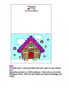 Printable Christmas Card Gingerbread House