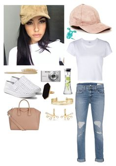 """""""Madison Beer Style"""" by jnnipper-hipsterfashionlover ❤ liked on Polyvore featuring RE/DONE, rag & bone, Givenchy, Steve Madden, Sony, Jaeger, Stella & Dot, Elizabeth and James, Menu and HAY"""