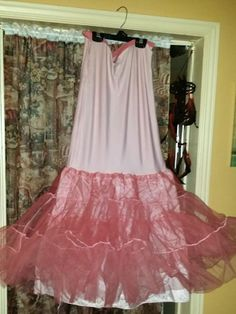 Pink dyed crinoline DIY project