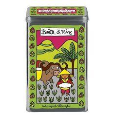 Boîte à riz Thaï - Vert - Derrière la Porte - DLP - Accessoire cuisine et rangement/Boîte métal et céramique - espritlogis-fr