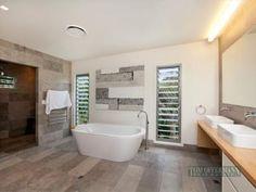 Modern Bathroom Design With Freestanding Bath Using Granite