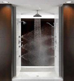 shower with multiple shower heads - would be amazing!