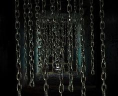 Really Scary Haunted House Ideas: Chains Halloween Prop, Halloween Maze, Theme Halloween, Halloween Projects, Halloween Horror, Holidays Halloween, Halloween Decorations, House Decorations, Halloween Stuff
