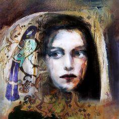 Suhair Sibai - Syrian Artist Mariée de la Liberté (2013) Mixed Media on Canvas