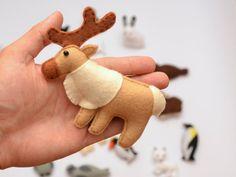 ARCTIC ANIMALS magnets Special edition por LadybugOnChamomile