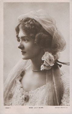 vintage everyday: A Collection of 70 Beautiful Vintage Portrait Photos of Lily Elsie from the through the