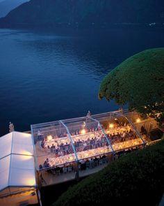 Lake Como, Italy wedding tent