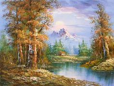 fall landscapes | Autumn landscape painting