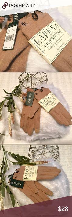 "Ralph Lauren The Touch Glove LAUREN Ralph Lauren The Touch Glove. Specially Designed Fingertips Operate All ""Touch"" Technology. Brand New! Size L. Lauren Ralph Lauren Accessories Gloves & Mittens"