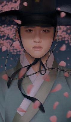 FanBook : Fan Art Social Platform Kyungsoo, Chanyeol, Korean Art, Korean Drama, Nam Ji Hyun Actress, Foto Do Exo, Exo Anime, Episode Interactive Backgrounds, Exo Lockscreen
