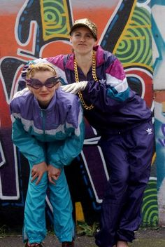 Shell suits! Mine was purple and I thought I looked the bomb in it!