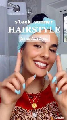 Cute Lazy Hairstyles, Teen Girl Hairstyles, Easy Hairstyles For Long Hair, Spring Hairstyles, Elegant Hairstyles, Diy Hairstyles, Pretty Hairstyles, Short Hair Styles Easy, Girl Tips