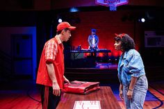 How We Got On: Cleveland Play House production showing during the 2014-2015 season in the Outcalt Theatre. Left to right: Kim Fischer as Julian, Portia as the Selector, and Cyndii Johnson as Luann.© 2014 Roger Mastroianni #theatre #acting #actor #hiphop #80s #cleveplayhouse