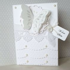 Perfect for a feminine birthday card....or wedding as shown here.
