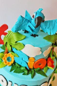 And Everything Sweet: Rio Cake Rio Birthday Parties, Girl Birthday, Birthday Cakes, Birthday Ideas, Rio Cake, Rio Movie, Movie Cakes, Sweet Cakes, Amazing Cakes