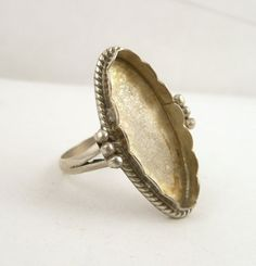 Sterling Silver Ring Setting  // Size 7 // by CastoGemstones, $12.00