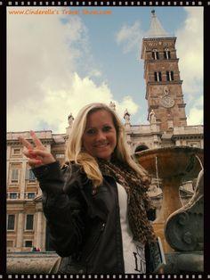 Me in front of Basilica di Santa Maria Maggiore in Rome, Italy