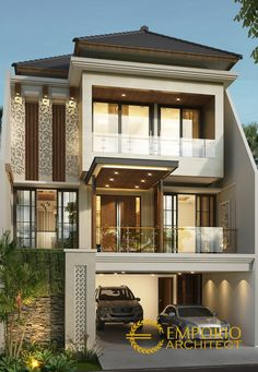 modern house exterior wall painting home design ideas Bungalow House Design, House Front Design, Modern House Design, Modern Minimalist House, Home Building Design, House Elevation, Dream House Exterior, Modern House Plans, Facade House