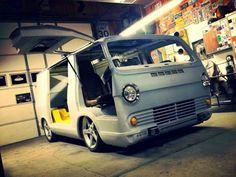 Love vintage vans. Especially with Lambo doors