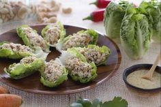 Cestini di lattuga con insalata di tacchino