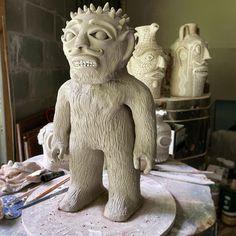 "Michael ⚡️Gates ⚡️NC on Instagram: ""Raku fun coming soon! 🤞 #raku #clay #ncclay #ceramics #artpottery"" Ceramic Artists, Gates, Lion Sculpture, Clay, Statue, Ceramics, Fun, Instagram, Clays"