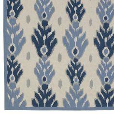 woven ikat - blue