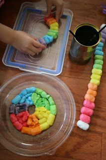 Pink and Green Mama: Just Add Water: Cornstarch Packing Peanut Art. How cool is that?