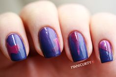 manicurity:  Double Gradient art with China Glaze! | Click...