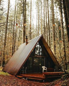 46 Ideas Tree House Plans Design Woods For 2019 A Frame Cabin, A Frame House, Cabins In The Woods, House In The Woods, Tiny House Cabin, My House, Tree House Plans, Cabins And Cottages, Log Homes