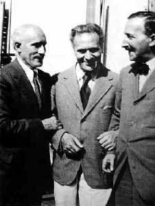 Arturo Toscanini, Bruno Walter and Stefan Zweig, 1936