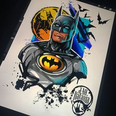 Showcase batman gifts that you can find in the market. Get your batman gifts ideas now. Batman Painting, Batman Drawing, Batman Artwork, Batman Comic Art, Marvel Drawings, Art Drawings, Gotham Batman, Batman Robin, Batman Poster