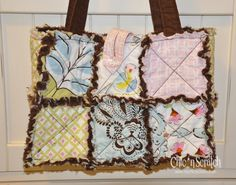 Rag quilt purse