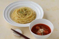 パスタでつけ麺?!これが合うんです♪ 「静岡県富士市の町おこしご当地グルメ」をご家庭でもお試しください。 - 86件のもぐもぐ - つけ麺ナポリタン by カゴメトマトケチャップ