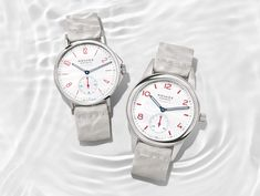 """""""Nomos Introduces Aqua Sports Watches in White and Red"""" via @watchville"""