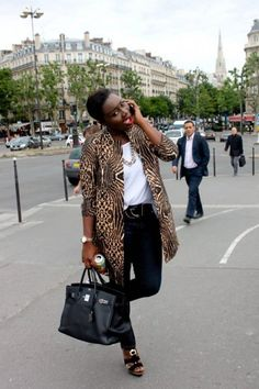 SARA DIOUF - The Young Fashionista Who Is Going Places-poses for a fun pic