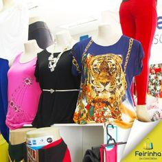 Blusas, blusas e mais blusas! Sempre quero mais! E aqui na Feirinha da Concórdia você encontra vários modelos!   #melhorfeirinhadobrás #moda #armáriocheio #compras