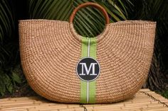 The Monogrammed Extra Large Shorty Straw Tote makes a classic style statement! Straw Handbags, Classic Style, My Style, Straw Tote, Green Accents, Monogram Gifts, Summer Looks, Bag Making, Preppy