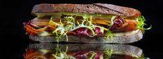Bacon, Lettuce and Pear Sandwich