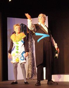 costumes for Trinculo and Stephano from The Tempest, produced by Parkside Players. in costumes by Deborah Erenberg