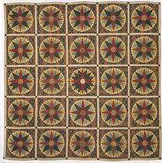 Mariner's Compass Quilt Maker: Barbara Ann Miller Date: 1847 Geography: Mid-Atlantic, Pennsylvania, United States Culture: American Medium: Cotton and linen Dimensions: 108 x 107 1/2 in. (274.3 x 273.1 cm) Classification: Textiles