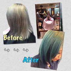 WEBSTA @ mynameis__saki - またまた行ってきました🙌本当いつもありがとうございます🙇写真じゃ色は伝わりにくいなぁ#マニパニ#派手髪