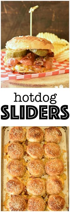 Hotdog Sliders are t