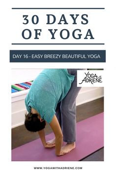 30 Days Of Yoga - Day Easy Breezy Beautiful Yoga… Ahhh, the art of noticing! Use this Yoga practice to awaken the spine, calm the nervous system and balance yesterday's yang energy - with a little softness and ease. Free Yoga Videos, 30 Day Yoga, Mental Health Benefits, Yoga With Adriene, Namaste Yoga, Beautiful Yoga, Yoga Everyday, Pilates Workout, Yoga Teacher