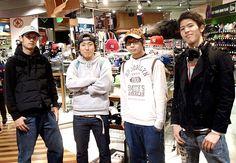 【大阪店】 2013年4月8日 こーへいさん、ゆうきさん、なおりんさん、ゆうごさんの仲良し4人組! 次はブルズのパーカーをゲットしてください! #mlb