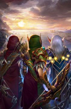 The Windrunner sisters~Blood Elf~ World of Warcraft High Fantasy, Fantasy World, Fantasy Art, World Of Warcraft Game, Warcraft Art, Image Minions, World Of Warcraft Wallpaper, Dragon Age, Sylvanas Windrunner