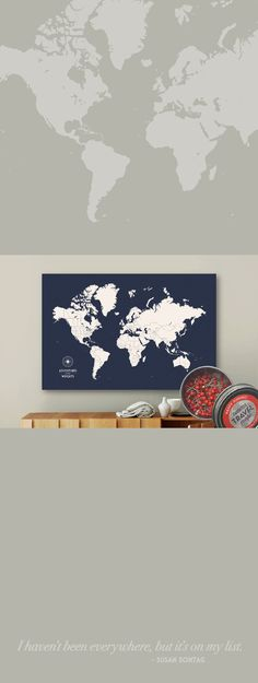 Push pin travel map world map push pin pin map custom map personalize this push pin map and pin all your travels and adventures how fun would world map canvascustom gumiabroncs Image collections