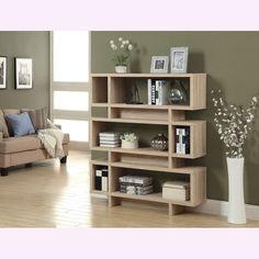 Natural Reclaimed-look Modern Bookcase   Overstock.com Shopping - Great Deals on Media/Bookshelves