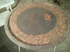 Vintage Lucky Penny Table